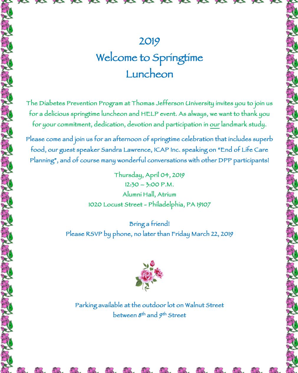 Springtime Luncheon
